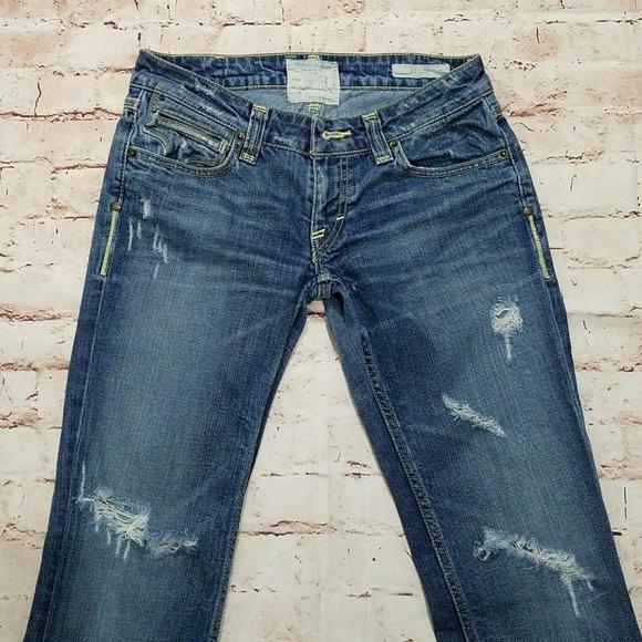 Taverniti So Jeans Denim - Taverniti SO Peggy Bootcut Jeans Distressed 28